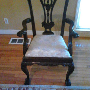 My Vintage Musical Chair w/ ball claw  feet - Furniture