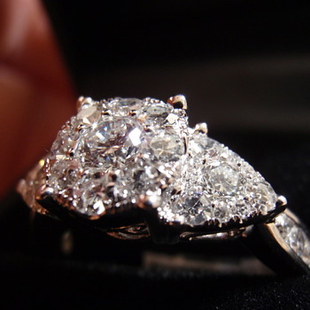 "2012 Macy's 1.5 ct diamond ring, she  says ""I do"""