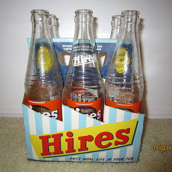 Late 1940&#039;s Early 1950&#039;s Hires Root Beer Bottle 6-Pack