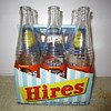 Late 1940's Early 1950's Hires Root Beer Bottle 6-Pack