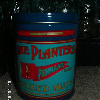 Vintage Planters Mixed Nuts Pennant Brand Tin & Lid ~1989 - Advertising