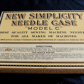Complete Simplicity Antique Needle Case Store Display - Sewing