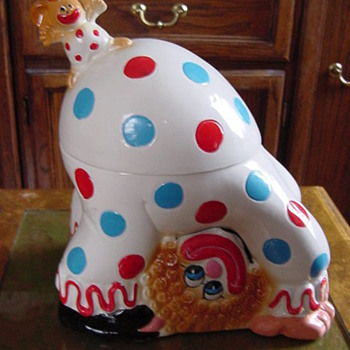 Circus Clown Cookie Jar