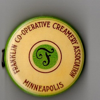 Franklin Co-Operative Creamery Assoc. Minneapolis Celluloid Tape Measure - Advertising