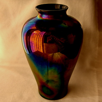 Education In Iridescent Glass Reproduction Vases - Have an Eagle Eye!