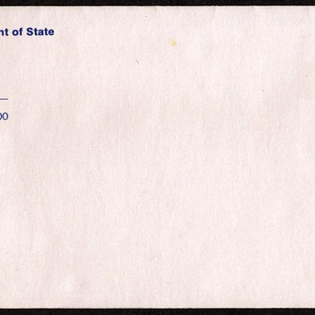 1992 - U.S. Consular Service Printed Envelope - Stamps