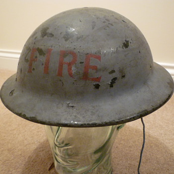 WW11 Civilian Fire brigade plasfort (plastic fibre) helmet. - Military and Wartime