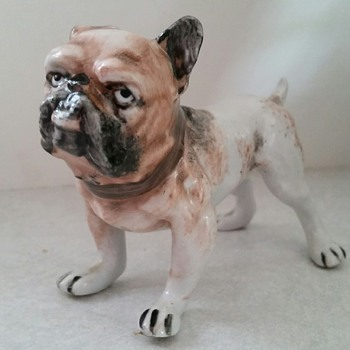 Porcelain Bulldog Marked 'P' Pinxton?