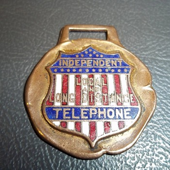 Independent Telephone Watch Fob - Telephones