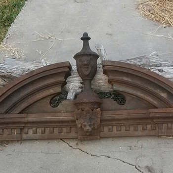 "Cast Iron Pediment ""FIREMARKS"""