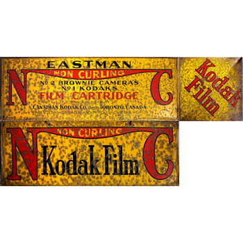 Old Kodak sign from London - Cameras
