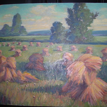 FLOYD HENLINE OIL PAINTING - Arts and Crafts
