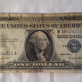 1957 One Dollar Bill - US Paper Money