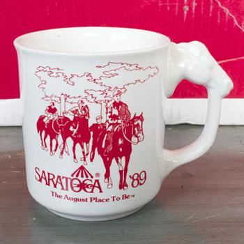 Saratoga Race Course 1989 Coffee Mug - Advertising