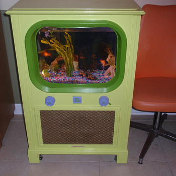 1950s tv I converted into a fish tank - Radios