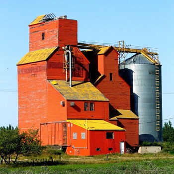 My Canada Family Homestead Conquest Saskatchewan old Grain Elevator  - Photographs