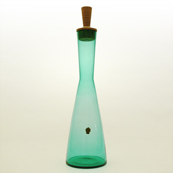 GRØN decanter, Jacob E. Bang (Kastrup, 1960) - Art Glass