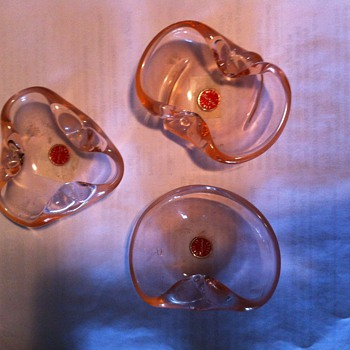 Murano Glass Ashtrays- 3 Piece set - Art Glass