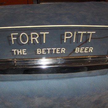 FORT PITT - THE BETTER BEER LIGHTED DISPLAY SIGN - Breweriana
