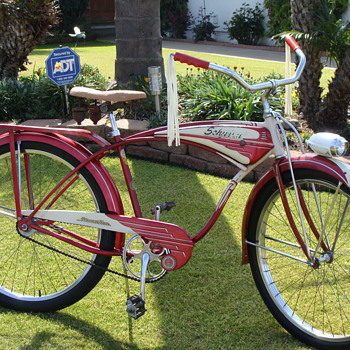 Kevin's 1954 Unrestored Schwinn Streamliner