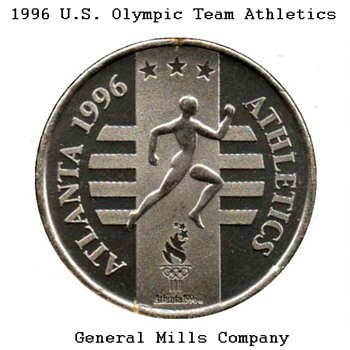 "1996 - Atlanta Olympics ""Athletics"" Medal - Medals Pins and Badges"