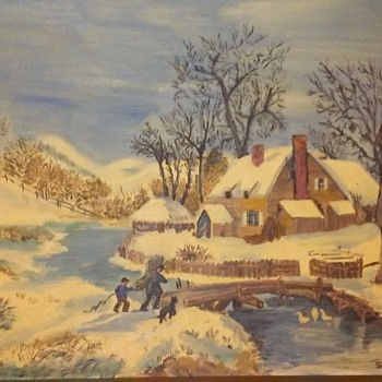 Oil painting signed (S.West 74)  - Visual Art