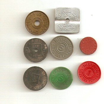 A few Tax Tokens - US Coins