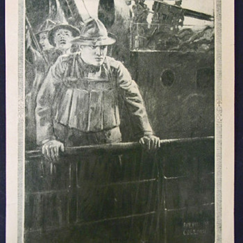 Ralph Pallen Coleman - Dodging The Submarines - Gazette Litho 1918