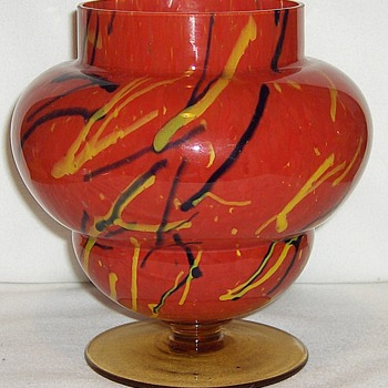 New Czech Glass Piece Red Peloton Decor: Likely Kralik & Differences Part I