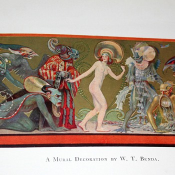 Sci-fi creatures from the early 1900s! More found vintage art prints...