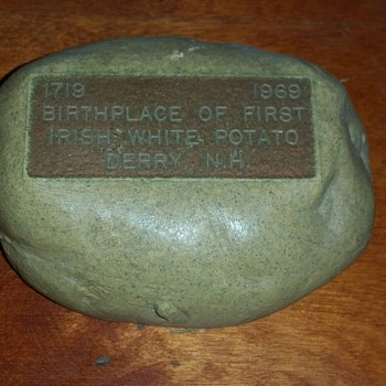 Souvenir of First Potato Grown in America