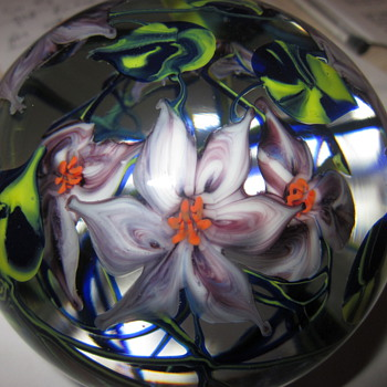 Large Richard Olma Glass Paperweight - Art Glass