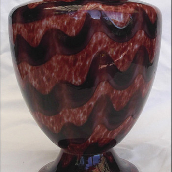 KRALIK WAVE VASE  - Art Glass