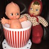 Vintage dolls *&* Hazel Atlas dishes