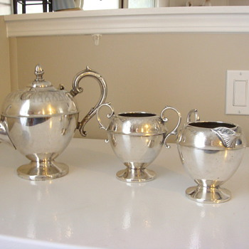 antique sterling tea set