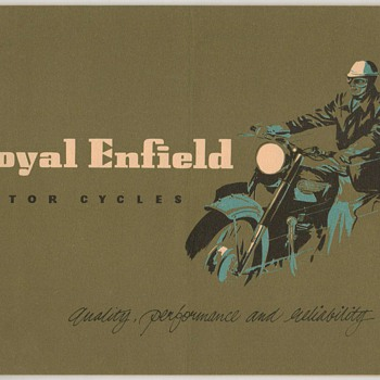 1954 Royal Enfield Motorcycles Brochure