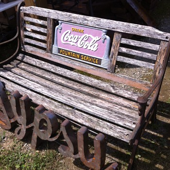 Coca-Cola early 1930s bench - Coca-Cola