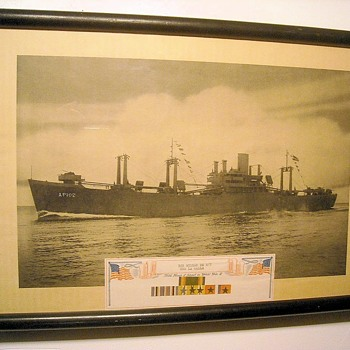 Vintage Framed Photo USS La Salle