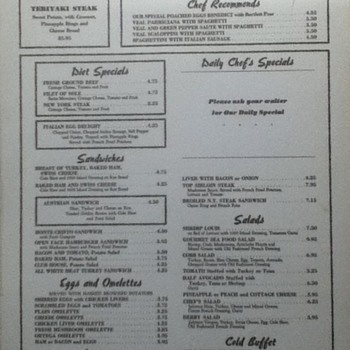 Brown Derby Menu - Paper