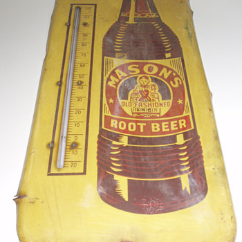 Mason's Old fashioned Root Beer Thermometer - Advertising
