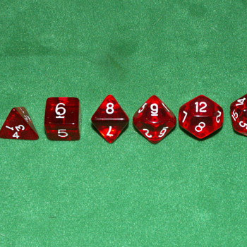 1980's Dungeons And Dragons Dice ~ #'s: 4, 6, 8, 9, 12, 20 - Games