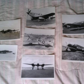 Original WW2 U.S. Fighter Planes Photos Help I.D.