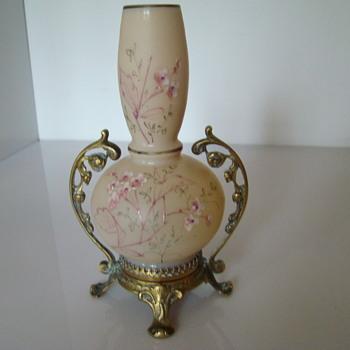 Victorian era enamelled vase