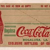 c.1920 Bottle Shipping Case Address Tag, Bogalusa, LA