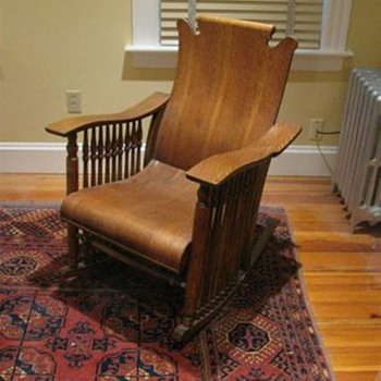 Unknown Antique Wooden Rocking Rocker Chair? - Furniture