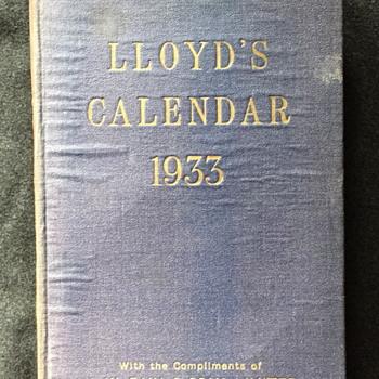 LLOYD'S Calendar 1933.