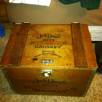 Jack Daniels Wooden Storage Box