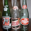 Trio of vintage pop bottles