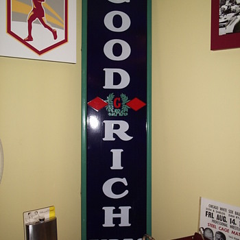 Original BF Goodrich Tire Porcelain Sign - Advertising
