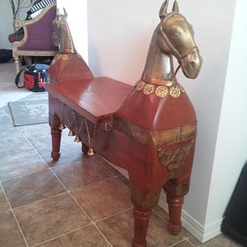 Very Odd Horse Bench